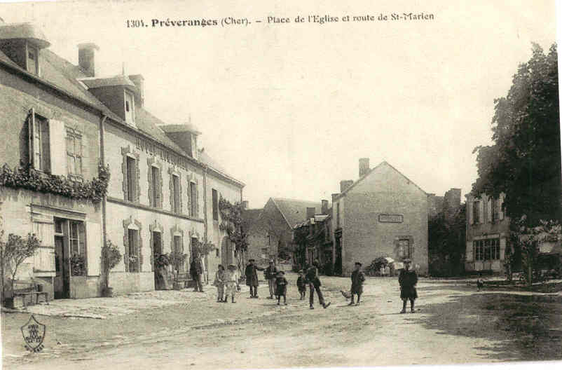 Preveranges place de l'église