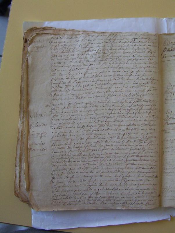 Mariage du 6 mars 1753