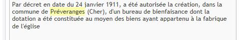 Bureau de bienfaisance j o du 05fevier 1912